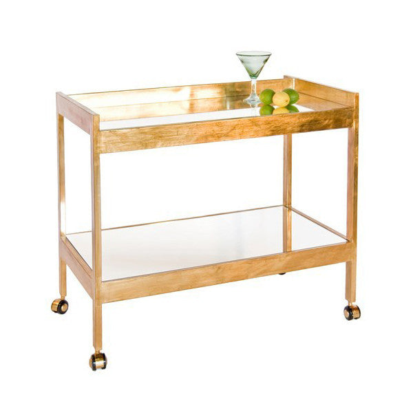 Gold Leaf Roland Bar Cart