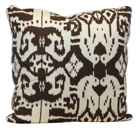 Island Ikat Throw Pillow