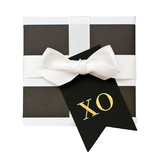 Black XO Gift Tag