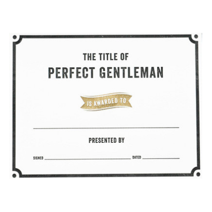 The Title of Perfect Gentleman Award