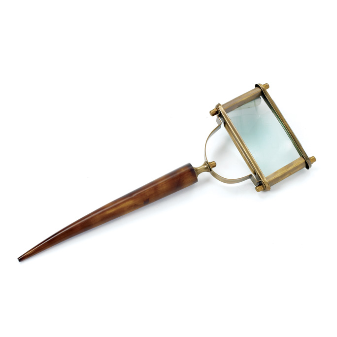 Horn and Brass Magnifying Glass
