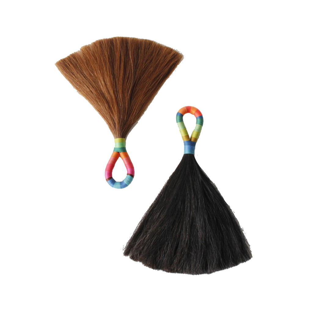 Extra Large Horse Hair Tassel- Black Hair