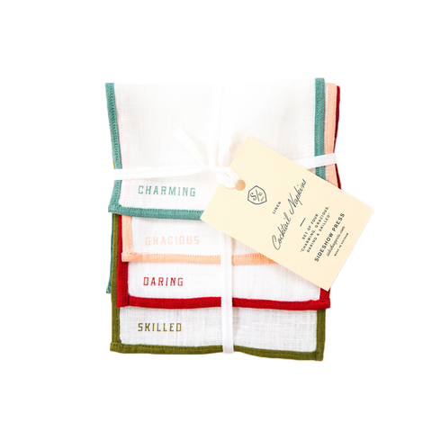 Linen Cocktail Napkin Set