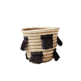 Navy Fringe Eyelash Mini Basket