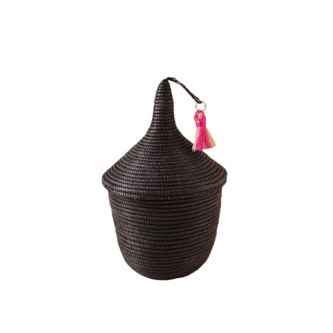 Mini Black Rwandan Peace Basket