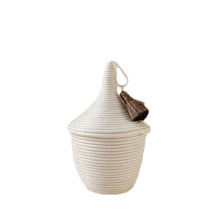 Mini White Rwandan Peace Basket
