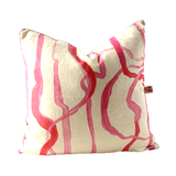 Pink Abstract Throw Pillows