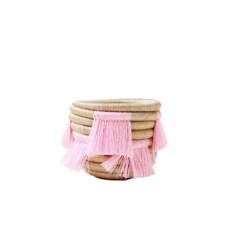 Mini Eyelash Pink Fringe Basket