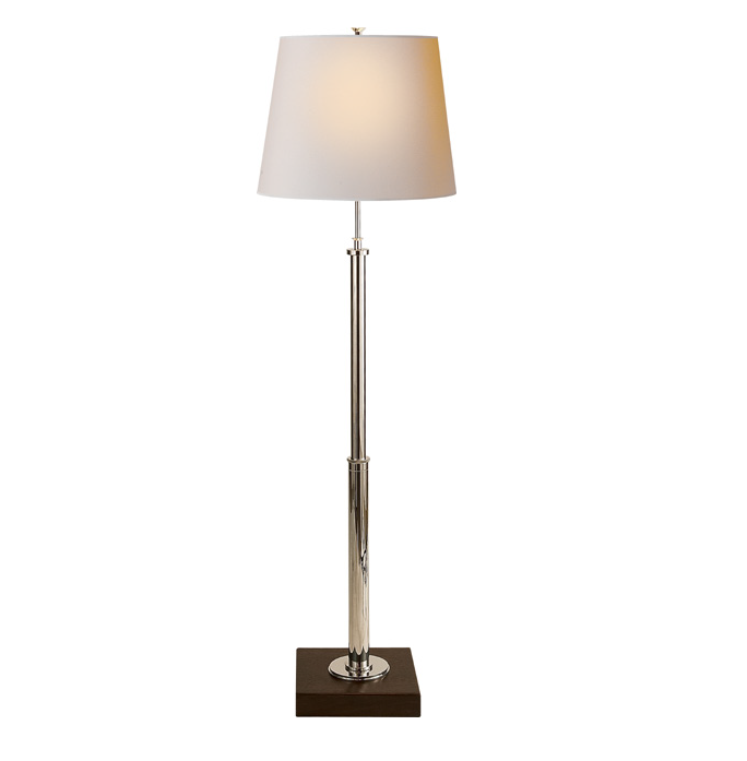 Polished Nickel & Walnut Table/Floor Lamp
