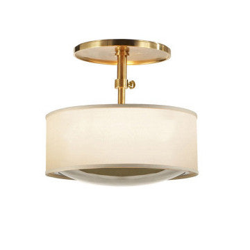 Soft Brass/Silk Ceiling Pendant