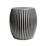 Black Striped Resin Stool