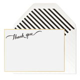 Thank You Calligraphy Note Set