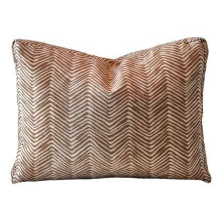 Zig Zag Shimmer Camel Tini Throw Pillow