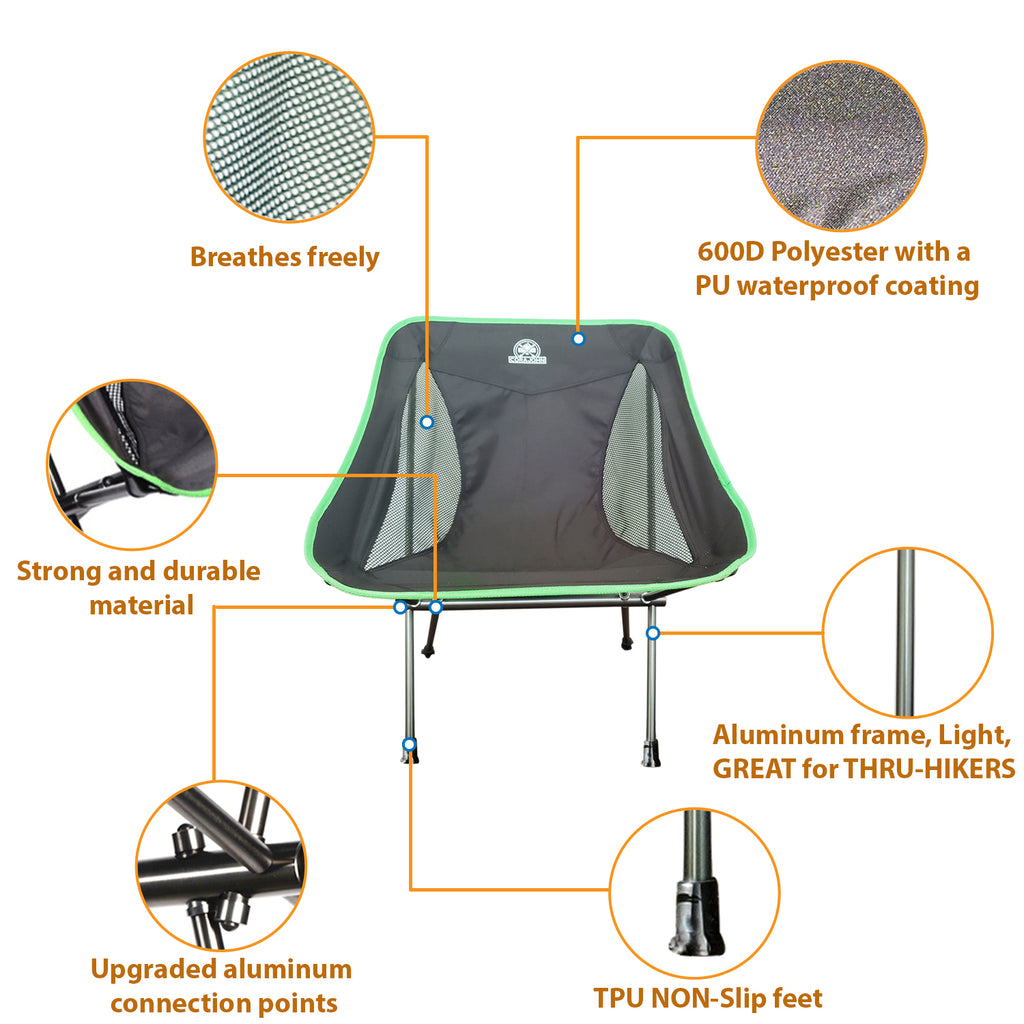 CoraJohn Max Patch hiking/camping chair