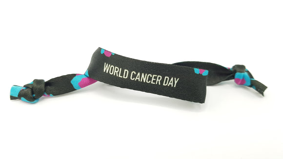 Band Against Cancer 2020- Pack of 3 Black Bands