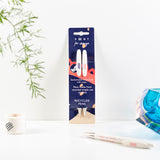 Pack of 2 Recycled Plastic Pens - 'Ideas' in Blue Sleeve