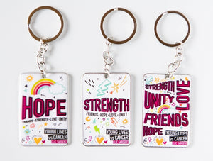 Young Lives Keyrings - 3 Pack