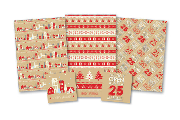 Gift Wrap & Tags - Kraft Design