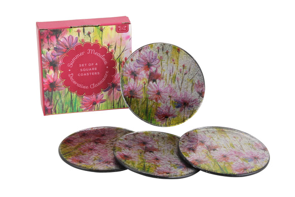 Summer Meadow Glass Coasters