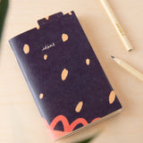 Recycled Paper Plain Pocket Book - 'Ideas' in Blue