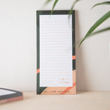 Recycled Paper Lined Listpad - 'Ideas' in Green