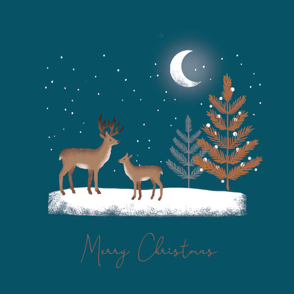 Winter Deer Christmas Card