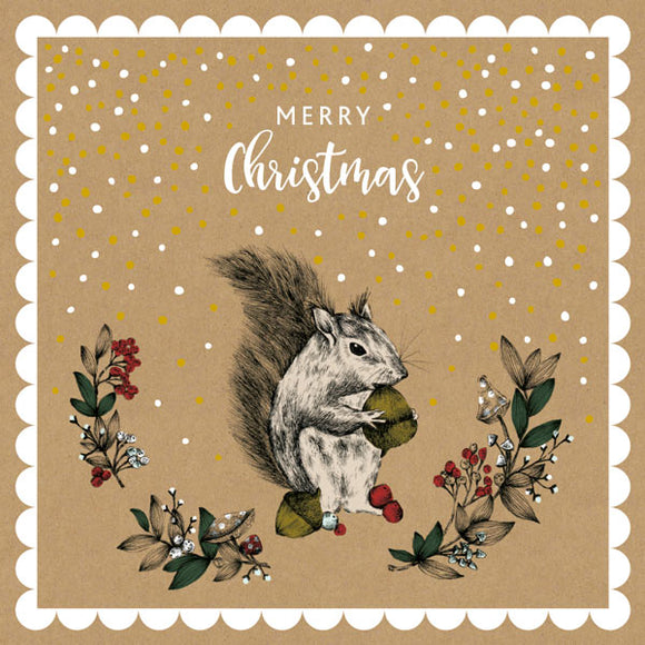 Christmas Squirrel Card