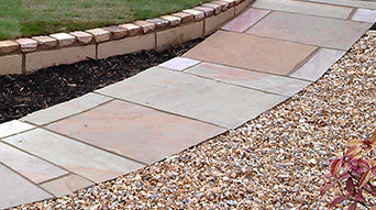 Bowland Stone Fossil Buff and Autumn Green Natural Stone Paving