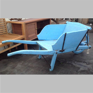 Blue French Vintage Wheelbarrow
