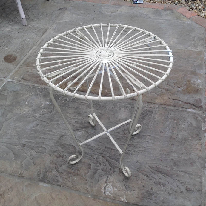White curly side table