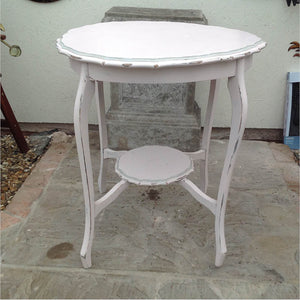 Pale pink wooden vintage table