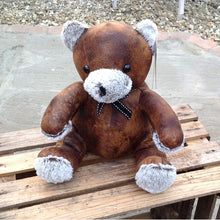 Load image into Gallery viewer, Faux leather teddy bear