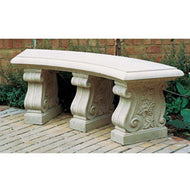 Haddenstone Curved Bench Seat