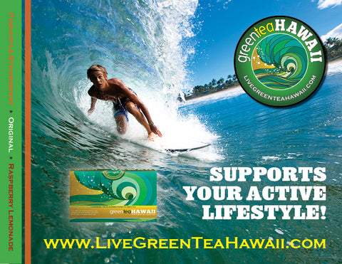 Green Tea Hawaii Surf Team - North Shore Dier