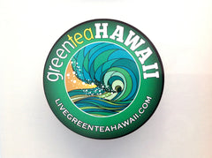 "Green Tea Hawaii - 4"" Circle Logo Decal"