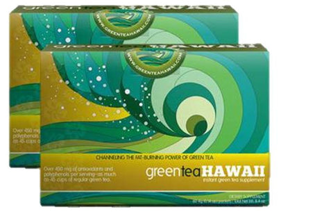 Green Tea Hawaii - 2 Boxes, 120 Packets