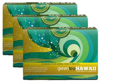 Green Tea Hawaii - 3 Boxes, 180 Packets