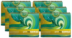 Green Tea Hawaii - 6 Boxes, 360 Packets