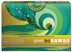 Green Tea Hawaii - 1 Box, 60 Packets