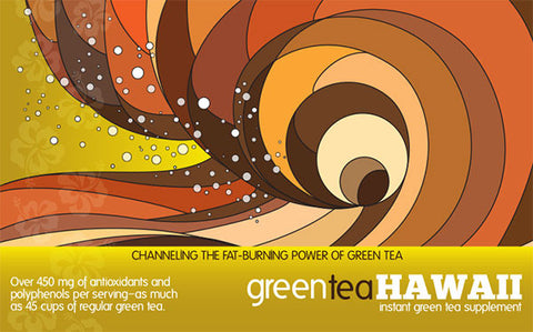 Green Tea Hawaii - Mocha flavor: 1 Box, 60 Packets