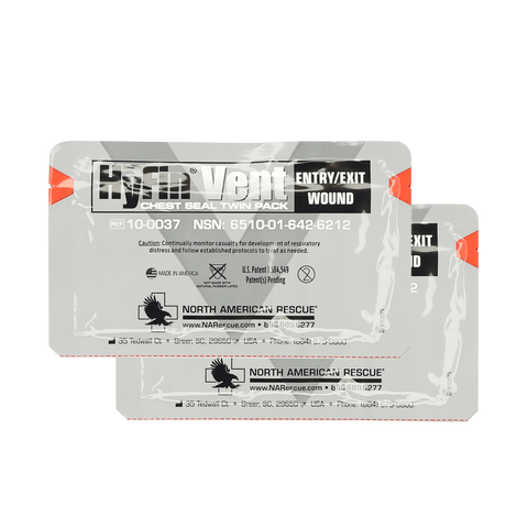 Chest Seal - Hyfin Compact (Vented) Twin Pack