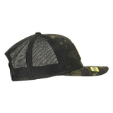 Snapback Trucker Hat - Multicam Black