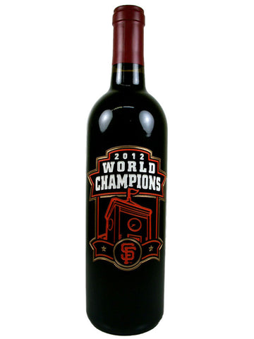 MLB 2012 San Francisco Giants World Champions Etched Bottle