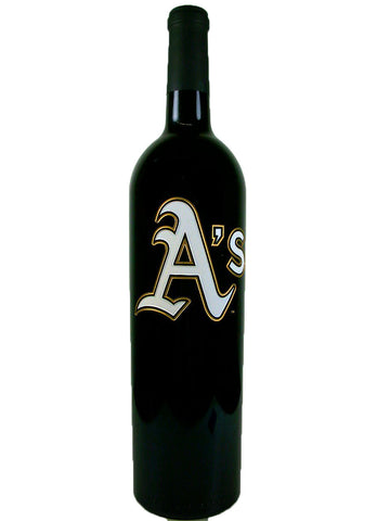 Oakland A's™ Etched Red Wine