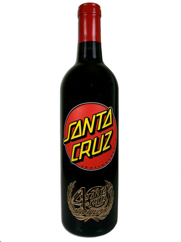 Santa Cruz Skateboards 40th Anniversary Etched Wine Bottles