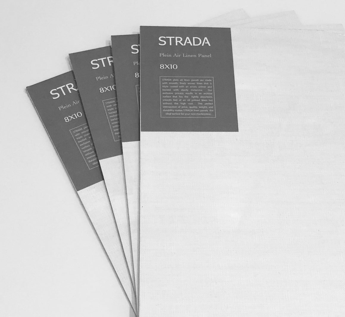 STRADA triple primed linen panels with slight warping