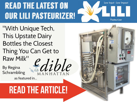 LiLi Pasteurizer Edible Manhattan Back to the Future Farm Bob-White Systems