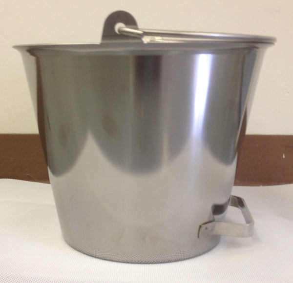 13 QT Stainless Steel Milk Pail & Accessories - Bob-White Systems - 1