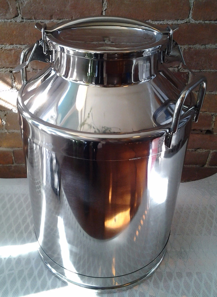 Stainless Steel Milk Can With Latch Lid 70lb 90lb