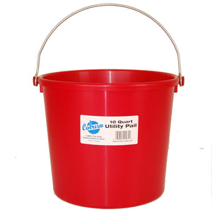 10 Quart Utility Pail--Red